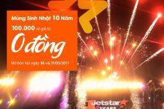 Mừng sinh nhật Jetstar mở bán 100k vé máy bay chỉ 0 đồng