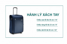 Cước phí hành lý máy bay- phí mua thêm hành lý.