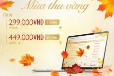 Vé máy bay giá rẻ Vietnam Airlines chỉ từ 299k