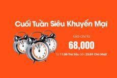 Vé máy bay giá rẻ 68k khuyến mãi cuối tuần